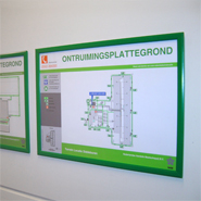 An escape plan which provides insight to the escape routes and emergency exits on a site.