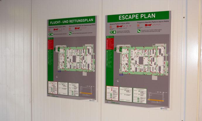 DolWin Alpha HVDC platform Totaal Signage