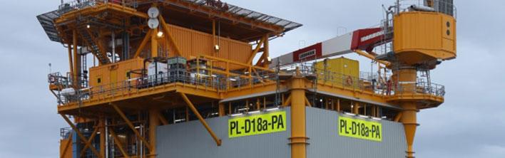 Platform identificatie sign op ENGIE D18 platform