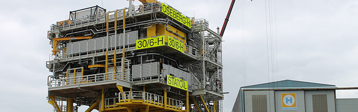 Total Signage project (engineering, production, installation) Blomsma Signs & Safety Heerema Fabrication Group (Zwijndrecht) / Statoil. Oseberg Vestflanken 2