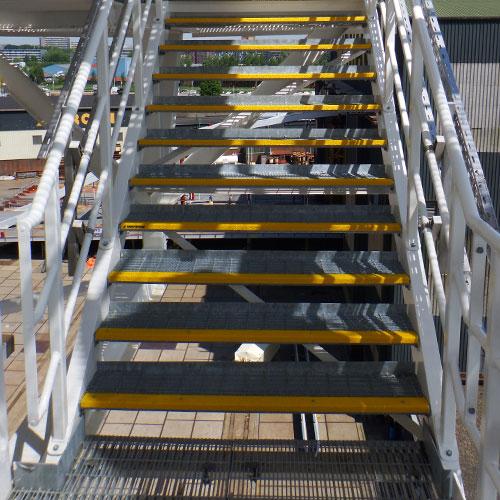 Anti-slip trapneuzen zijn geschikt voor industriele toepassingen maar ook voor veiligheidstoepassingen.