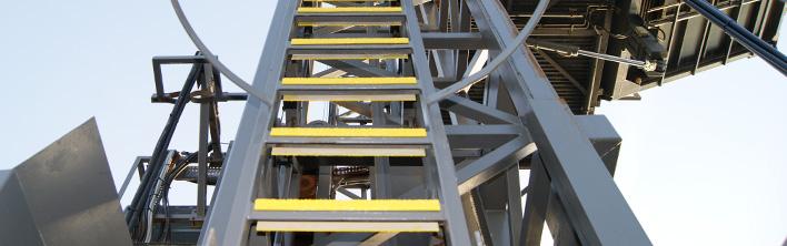 Betrouwbare anti-slip bescherming tegen glibberige ladders. Beschikbaar in ronde en rechthoekige uitvoering.