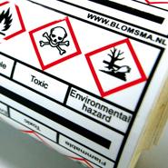 Met leidingmarkering geintregeerde GHS gevarensymbolen voor process veiligheid identificatie.