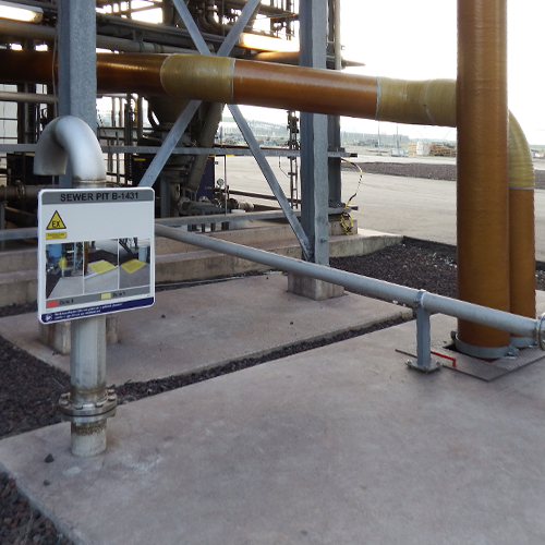 Ex area explosion risk ATEX signage Blomsma Signs & Safety