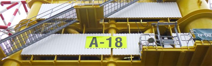 Petrogas E&P A18 platform