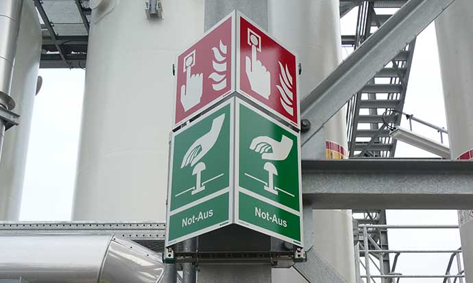 Storag DIN2403 Absorbtion unit veiligheidssignalering Blomsma Signs & Safety