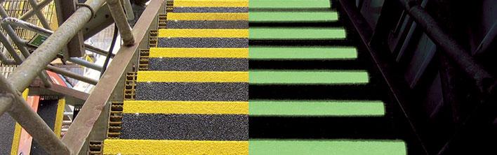 Anti-slip zelfklevend vinyl nalichtend of in 6 verschillende kleuren voor toepassingen als maritiem, industrieel en commercieel