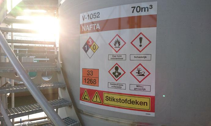 Cerexagri LFP Plant veiligheidssignalering Blomsma Signs & Safety