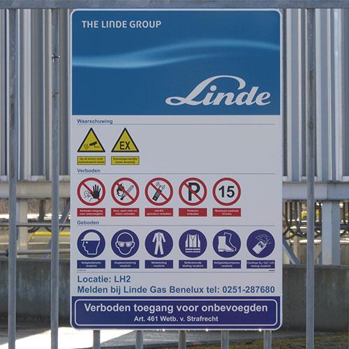 Sicherheitskennzeichnung für Linde Gas Benelux