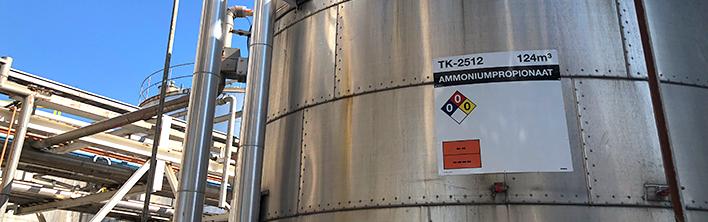 TPT Terneuzen tankkennzeichnungen von Blomsma Signs & Safety