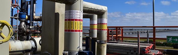Vynova Wilhelmshaven leidingmarkering
