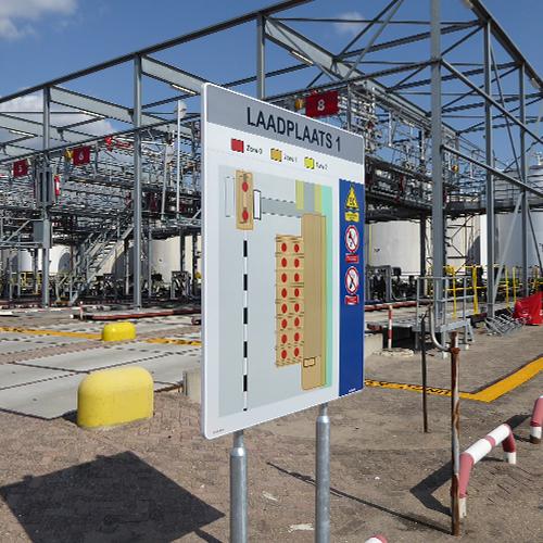 Kennzeichnung der EX-zonen bei Standic Dordrecht