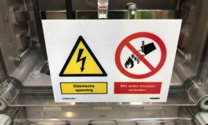 Sicherheitskennzeichnung, normale Kennzeichnung, Evakuierungspläne Avandis Zoetermeer von Blomsma Signs & Safety