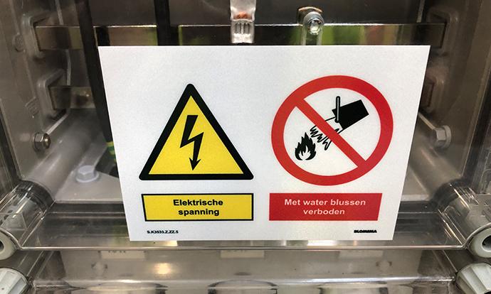 Avandis Zoetermeer veiligheidssignalering door Blomsma Signs & Safety