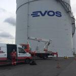 Re-branding tank terminals Evos Hamburg