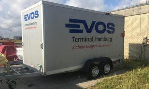 Re-branding voertuigbestickering, tankmarkering, tanklogo's en veiligheidszoneborden Evos door Blomsma Signs & Safety
