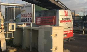 Re-branding, tankmarkering, tanklogo's en veiligheidszoneborden Evos door Blomsma Signs & Safety