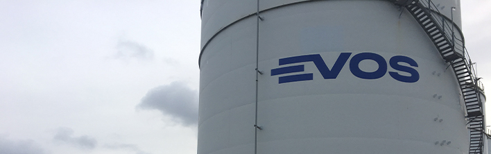 Re-branding, tank logos and safety zone signs Evos Hamburg by Blomsma Signs & Safety