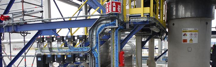 Reconstructie veiligheidssignalering Gate terminal Blomsma Signs & Safety