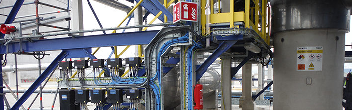 Rekonstruktion der Sicherheitskennzeichnung bei Gate Terminal fort bei Blomsma signs & Safety